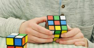 Rubix Cube being solved